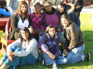 My friends and I in Mossel Bay Dias square